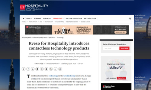 Kveso for Hospitality introduces contactless technology products